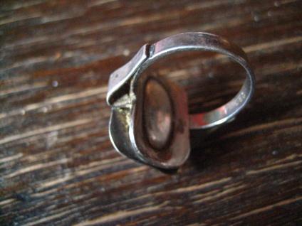 feiner eleganter Art Deco Ring rosa Rosenquarz 925er Silber RG 51 / 52 16, 25 mm - Vorschau 3
