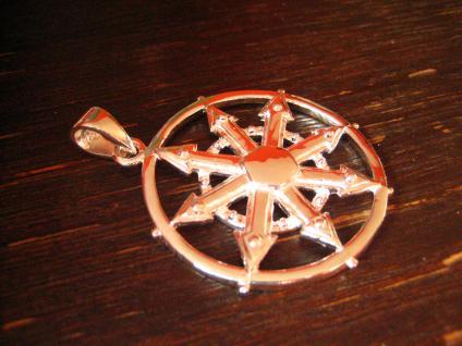 großer maritimer Anhänger Windrose Kompass Windrichtungen Pirat 925er Silber neu - Vorschau 2