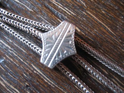 originelles Jugendstil Chatelaine 3 Abhängungen Würfel Eichel silber Uhrenkette - Vorschau 4