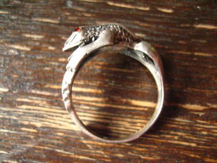 bezaubernder Froschring Frosch Kröte Unke Ring 925er Silber plastisch Krafttier - Vorschau 4