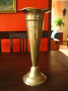 super tolle besonders große Kelchvase Trompetenvase Silbervase Vase silber pl