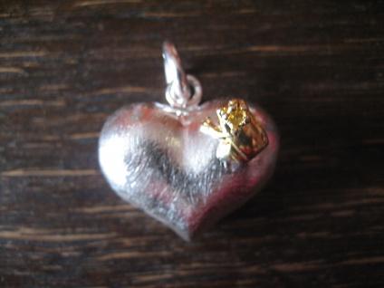 allerliebster Herz Anhänger vollplastisch Frosch Froschkönig 925er Silber