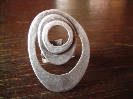 klassischer Statement Ring mit Pfiff Designer Leonardi Arte silber verstellbar - Vorschau 2