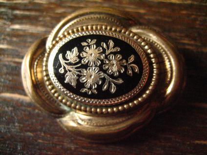 nostalgische original Biedermeier Brosche gold Emaille emailliert wunderschön - Vorschau 2