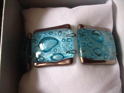 elegantes Armband türkis silber 2, 7 cm NEU Kunsthandwerk Arts & Crafts Unikat - Vorschau 1