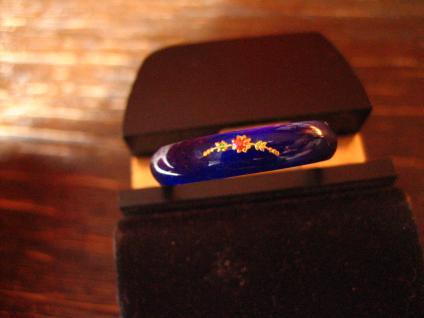 bezaubernder Vintage Ring Freundschaftsring Emaille bemalt 925er Silber RG 57 - Vorschau 2