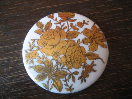 traumhafter vintage Spiegel Taschenspiegel Schminkspiegel Porzellan Rosen bemalt