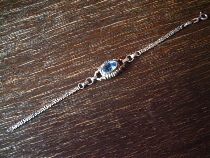 zierliches hübsches Art Deco Armband aquamarin Stein 835er Silber 16, 5 cm