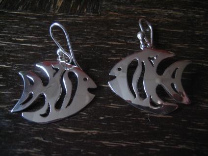 super süße maritime Ohrringe Hänger Chandeliers Fisch Skalar 925er Silber neu