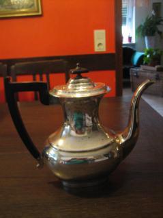elegante große Art Deco Kaffeekanne Silberkanne silber pl Viners of Sheffield
