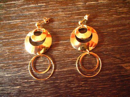 herrliche lange Statement Ohrringe Hänger Chandeliers 925er Silber vergoldet NEU - Vorschau 1