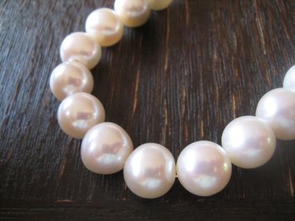traumhafte Perlenkette Perlencollier AAAA Naturweiß 10 mm 925er Silber NEU