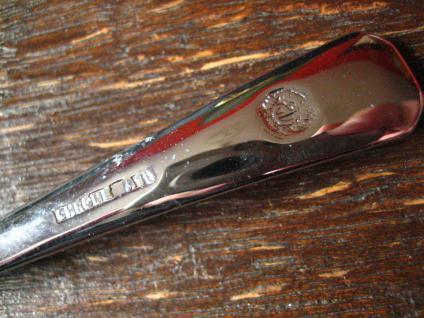 elegantes Vorlegebesteck Dessertbesteck 6 + 1 Desserlöffel silber chrom England - Vorschau 5
