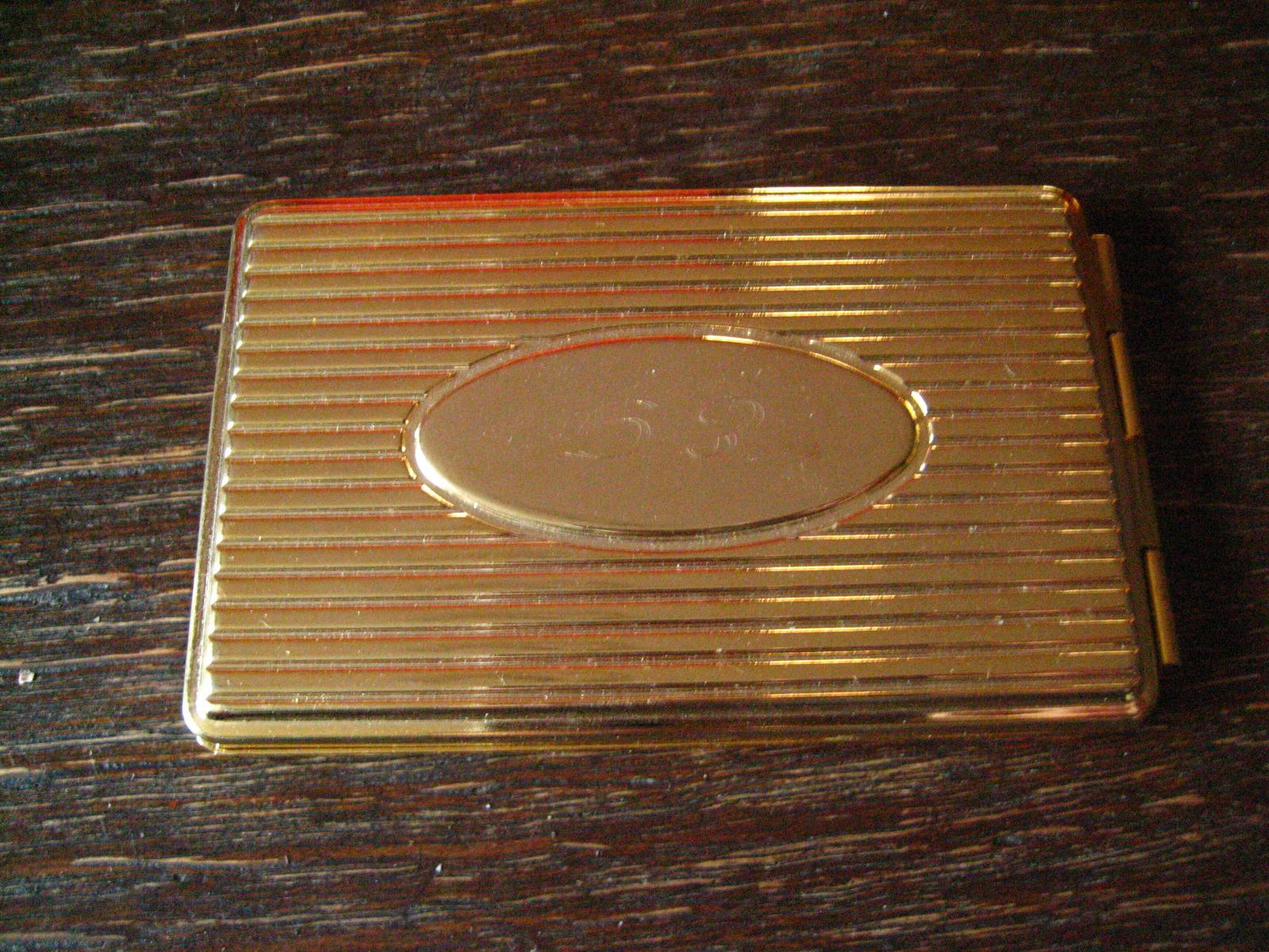 Elegantes Kleines Adressbuch Gold Farbenes Etui Visitenkarten Format Für Die Tasche