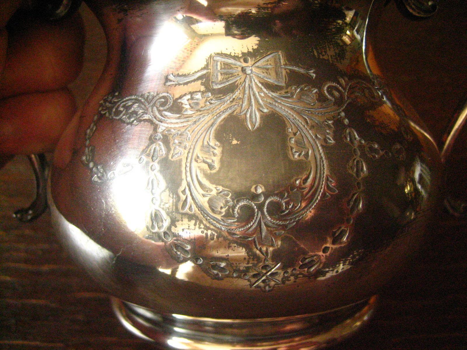 nostalgisches-antikes-milch---zucker-set-silber-pl-sheffield-reich-graviert-epns Verwunderlich Reich Werden Mit Silber Dekorationen