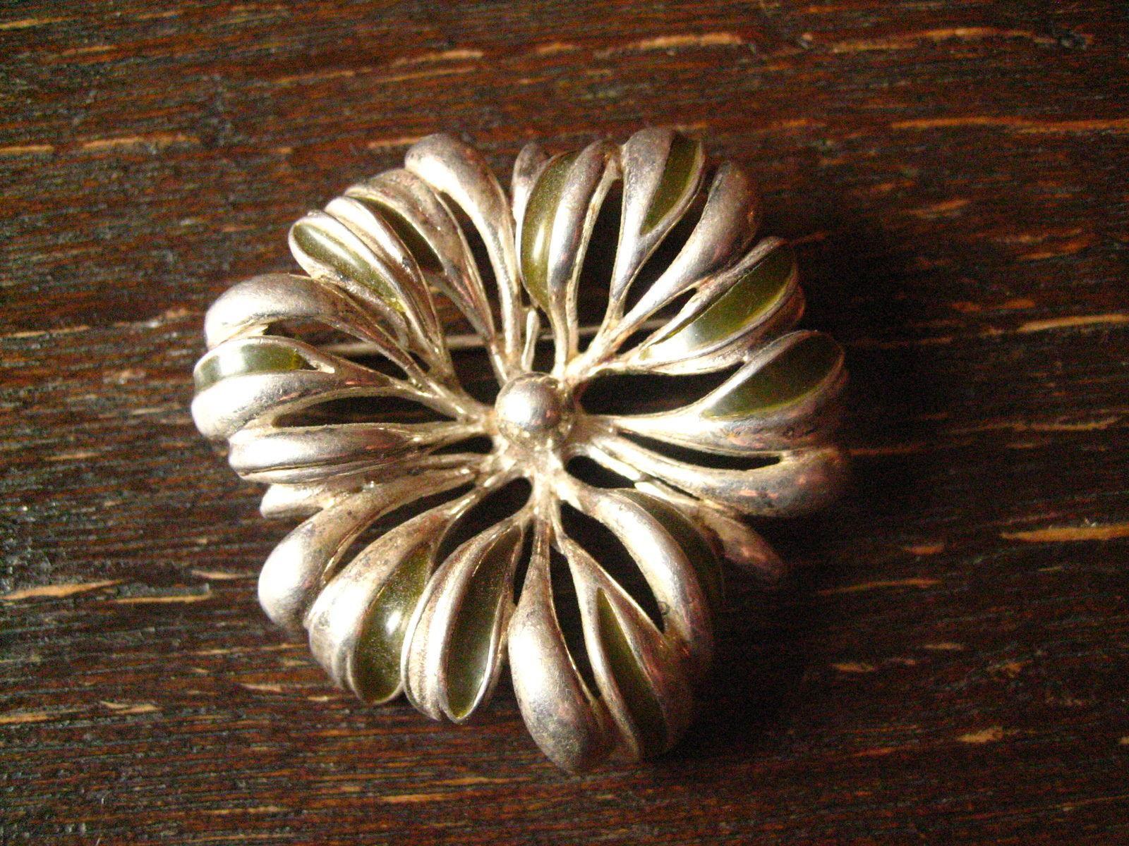 Antiquitäten & Kunst Uhren & Schmuck Sehr Große Designer Blüten Brosche Aus 925 Sterling Silber