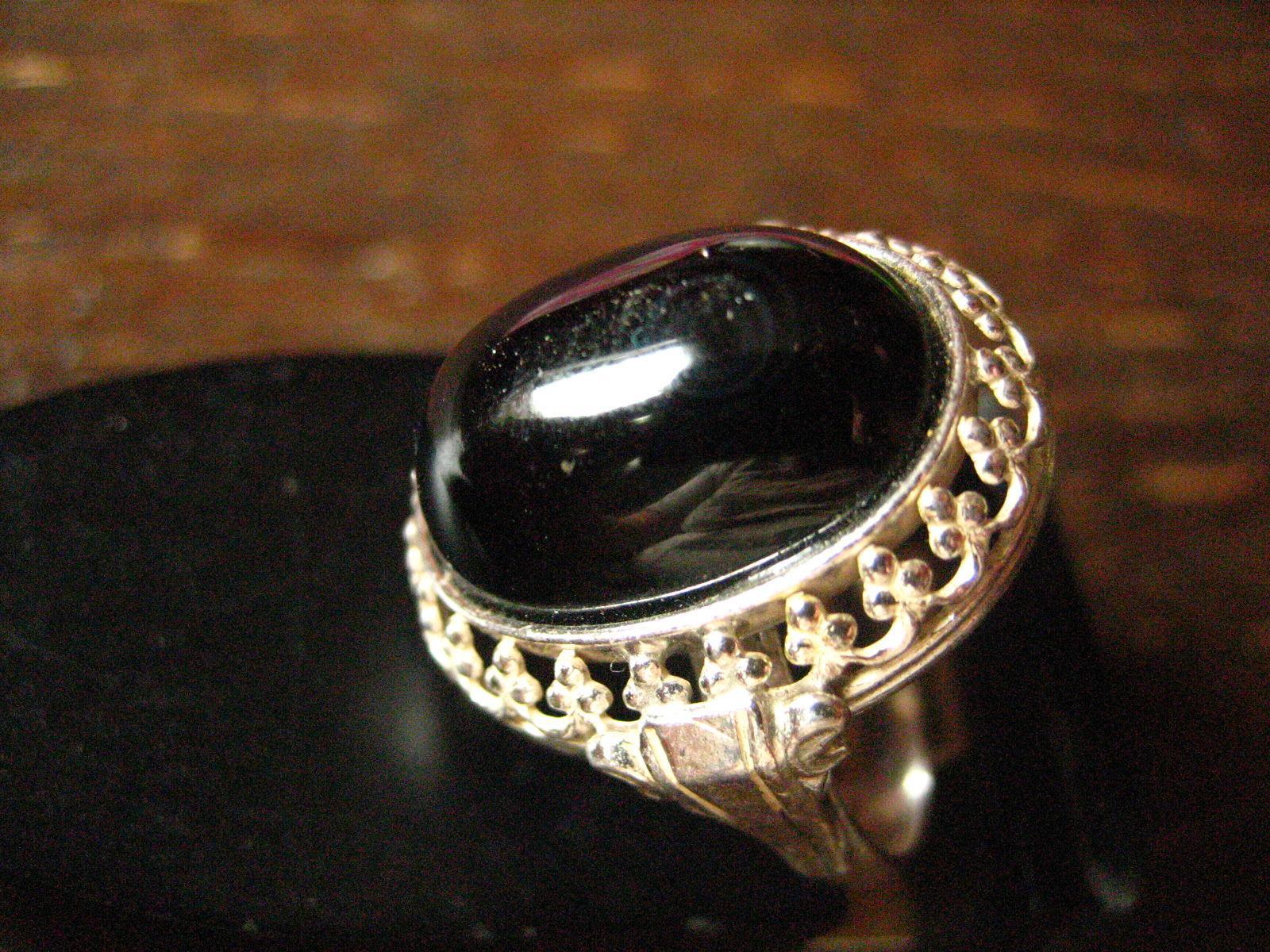 super-toller-art-deco-designer-ring-onyx-reich-verziert-835er-silber-18--5-mm Verwunderlich Reich Werden Mit Silber Dekorationen