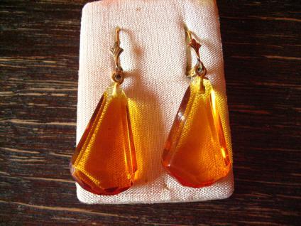prächtige Bernstein Ohrringe Hänger 925er Silber im antiken Stil Amber Earrings