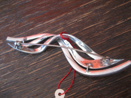 große elegante Art Deco Markasit Brosche Welle Wellen 925er Silber TOP Zustand - Vorschau 4