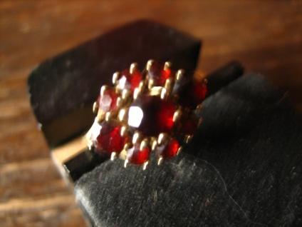 Feiner Art Deco Granat Ring 333er Gold böhmische Granate zeitlos nostalgisch - Vorschau 2