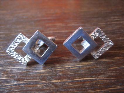 exklusive Art Deco Manschettenknöpfe tolle Optik / Struktur 800er Silber schwer