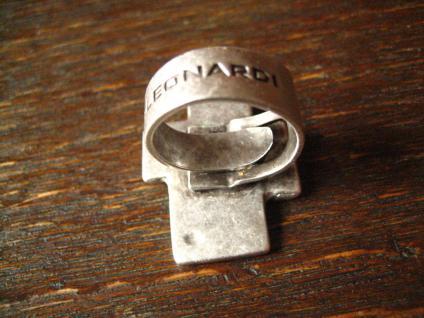 ausgefallener exklusiver Statement Ring Designer Leonardi Arte silber variabel - Vorschau 3
