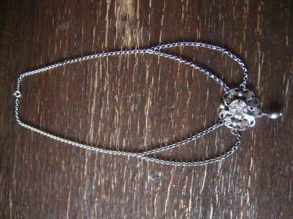 reizvolles antikes Trachten Dirndl Collier Kette 835er silber Erbskette Glitzerstein - Vorschau 2