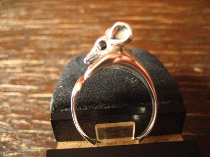 Bezaubernder Mäusering Maus Mäuschen Ring 925er Silber neu plastisch Krafttier - Vorschau 4