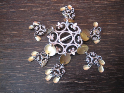traumhafte aufwändige Solje Brosche Hochzeitsbrosche 830er Silber Norwegen - Vorschau 4