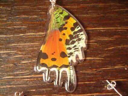 Schatz der Natur Anhänger Schmetterlingsflügel F 925er Silber Kette Eco Friendly - Vorschau 2