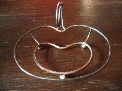 schnuckelige Apfel Schale für frische Äpfelchen Anbietschale silber pl England - Vorschau 1