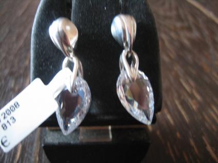romantische zauberhaft funkelnde Herz Ohrringe Hänger 925er Silber Zirkonia NEU