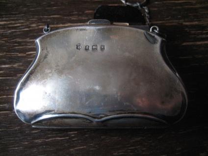 bezaubernde Jugendstil Abendtasche Täschchen Geldbörse 925er Silber England - Vorschau 2