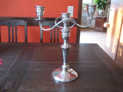 prächtiger 3arm Kerzenständer Kerzenhalter Kandelaber silber pl England 34 cm