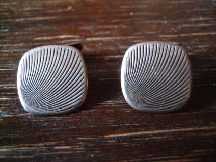 sehr elegante Art Deco Manschettenknöpfe 835er Silber Strahlen Muster tolle Form