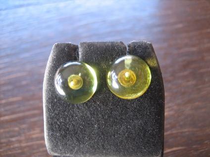 Traum in Giftgrün Ohrringe Stecker seltener grüner Bernstein 925er Silber grün