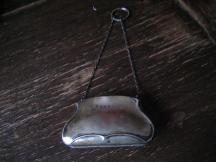 bezaubernde Jugendstil Abendtasche Täschchen Geldbörse 925er Silber England