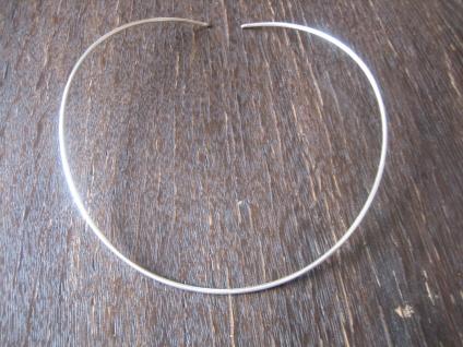 sehr eleganter Halsreif als Kette für Anhänger Choker edle Form 925er Silber NEU