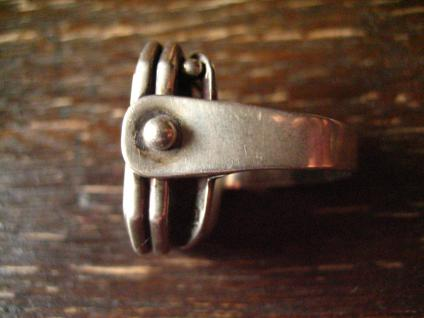 prächtiger Art Deco Designer Ring Malachit strahlend grün 835er Silber RG 58 - Vorschau 2
