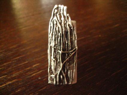 avantgardistischer Statement Ring Designer Leonardi Arte alt - silber verstellbar