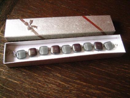 hochelegante Ohrringe Hänger grau silber NEU Kunsthandwerk Arts & Crafts Boho - Vorschau 3