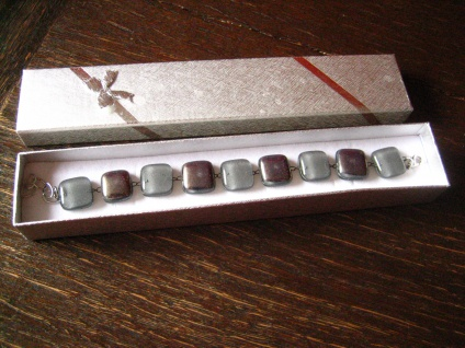 hochelegantes Armband grau silber NEU Kunsthandwerk Arts & Crafts Boho Chic - Vorschau 1