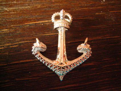 großer maritimer Anhänger Anker mit Krone Drachen Köpfe Pirat 925er Silber neu - Vorschau 1