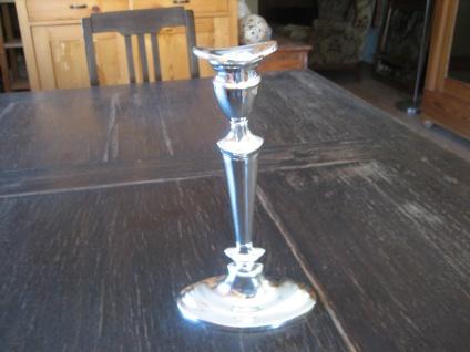 zeitlos eleganter 1arm Kerzenleuchter Kerzenhalter silber plated England