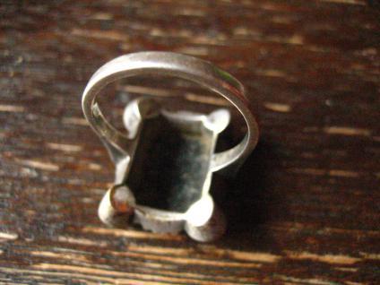 klassischer Art Deco Herrenring Siegelring Ring 835er Silber Onyx 18 mm RG 57 - Vorschau 4