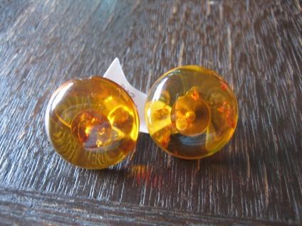 zeitlose Bernstein Ohrringe Clips Ohrclips 20 mm Earclips Amber Earrings Neu