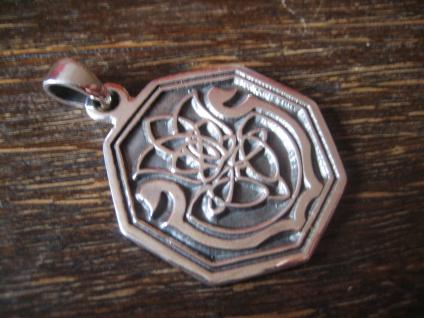 edler Anhänger Amulett keltische Distel und Harfe Lyra Leier 925er Silber neu - Vorschau 3