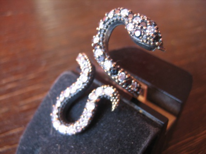 Krafttier Schlange - starker Schlangen Ring 925er Silber gold Zirkonia RG 55-60 - Vorschau 1