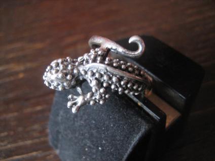 sehr schöner Gekko Waran Echse Ring 925er Silber neu vollplastisch 19 mm RG 60 - Vorschau 2