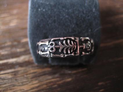 Gedenkring Skelett Trauerschmuck Bankdring Ring et Nox 925er Silber RG 60 / 19 mm